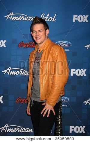 LOS ANGELES -  MARCH 3: James Durbin arrives at the American Idol Season 10 FInalists Party at The Grove on March 3, 2011 in Los Angeles, CA