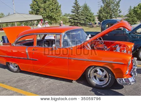 Orange 1957 Chevy Bel Air