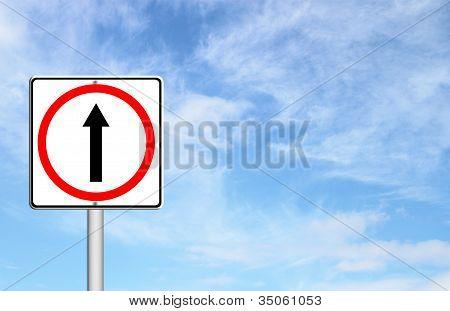 Go Ahead The Way ,forward Sign