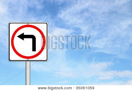 Left Turn Road Sign