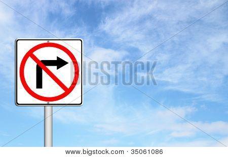 Straßenschild abbiegen nicht rechts
