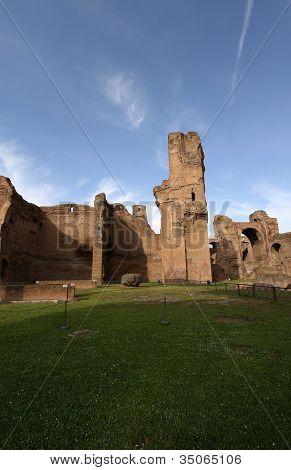 Terme di Caracalla (Termas de Carcalla) en Roma Italia