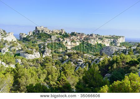 Les Baux de Provence village and castle. France, Europe.