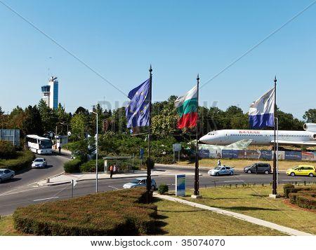 General view of Sarafovo Airport main entrance