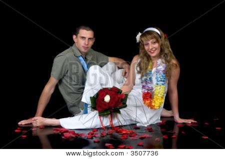 Young Happy Wedding Couple