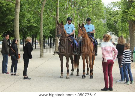 Gendarmes in the Champs de Mars