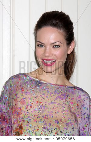 LOS ANGELES - JUL 21:  Rebecca Herbst arrives at the 2012 General Hospital Fan Club Luncheon at Sportsman's Lodge  on July 21, 2012 in Studo City, CA
