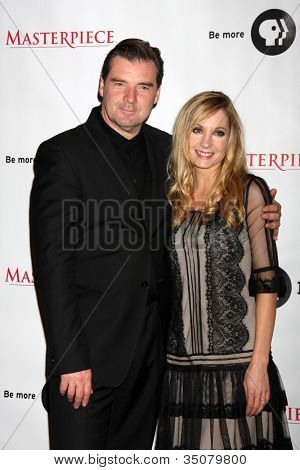 LOS ANGELES - JUL 21:  Brendan Coyle, Joanne Froggatt at a photocall for