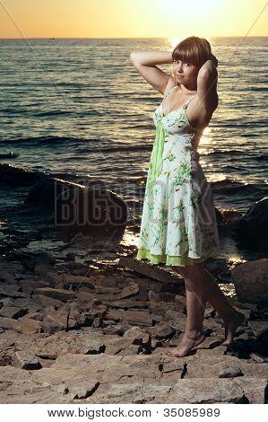 Beautiful Girl At The Lake