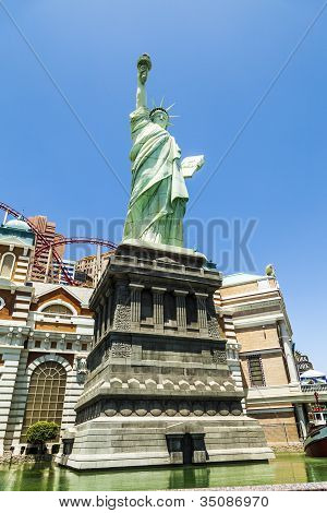 New York Hotel & Casino In Las Vegas, With Replica Of The Statue Of Liberty
