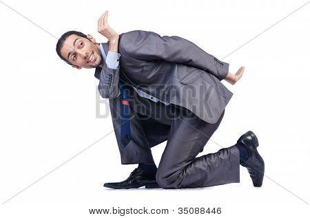 Businessman posing for conceptual photo
