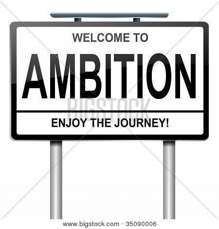 Ambition Concept,