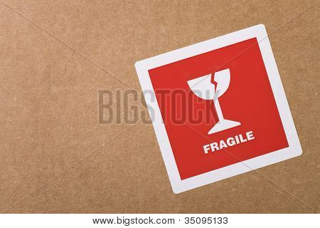 Fragile Sticker With Copy Space