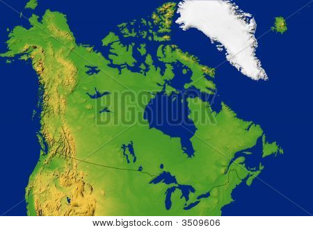 Canada Map With Terrain