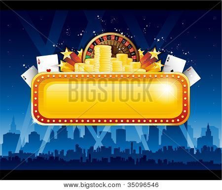 Casino background city