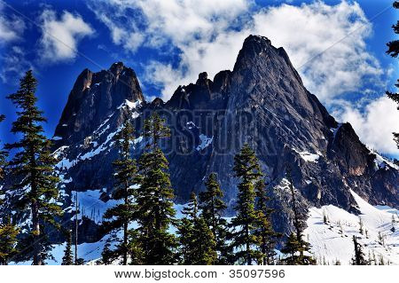 Bell Snow Mountain July Summer Washington Pass North Cascades National Park Pacific Northwest