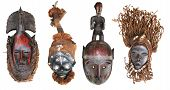 foto of cultural artifacts  - The original African masks made  - JPG