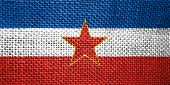 foto of yugoslavia  - very big size illustration country flag of yugoslavia - JPG