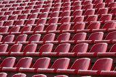 picture of bleachers  - Empty soccer sport stadium bleacher seat chair row - JPG