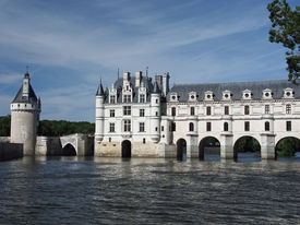 stock photo of poitiers  - in 1547 French King Henry II offered the chateau as a gift to his mistress Diane de Poitiers - JPG