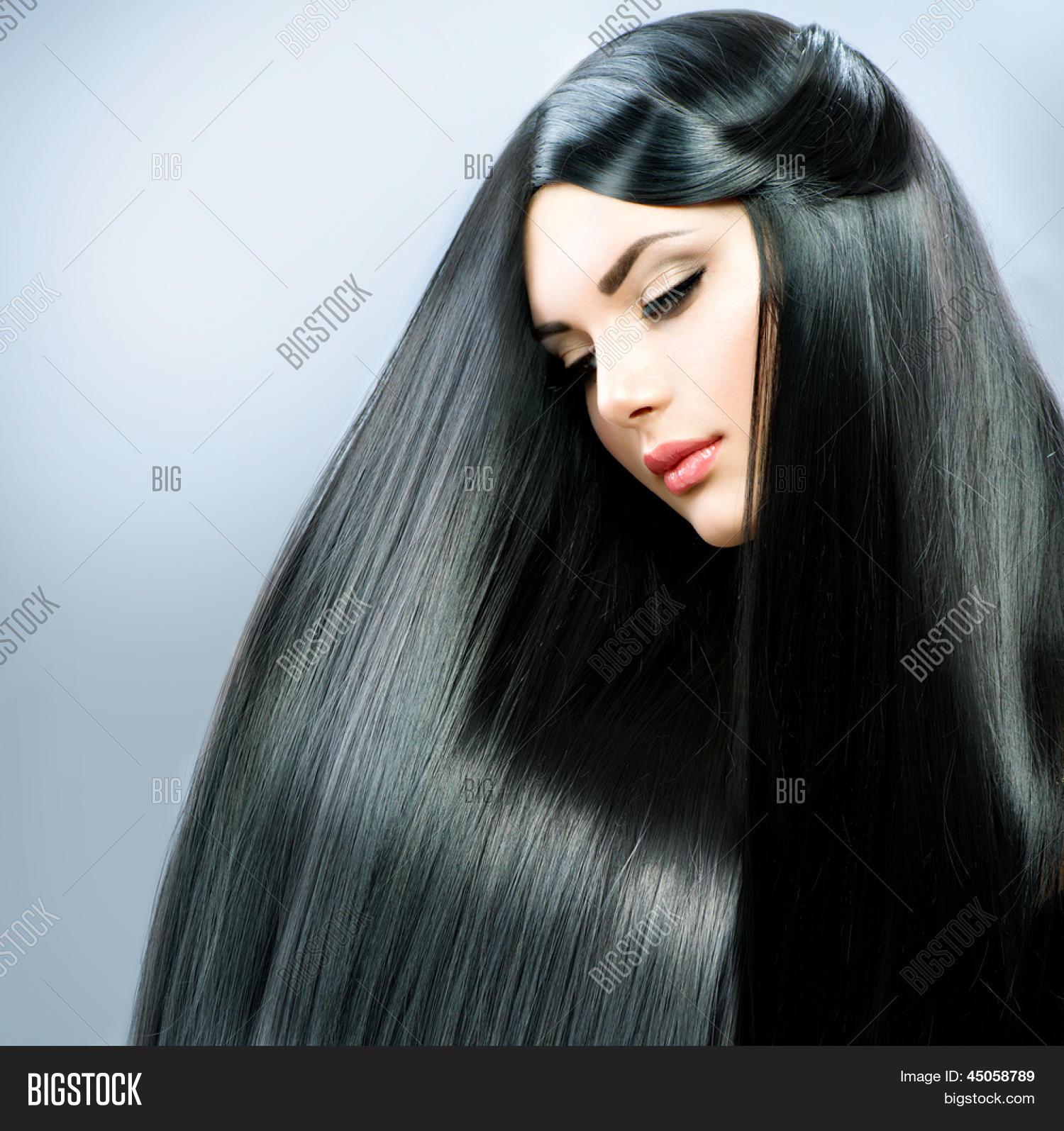 Bild und Foto Lange Glatte Haare Schöne Brü