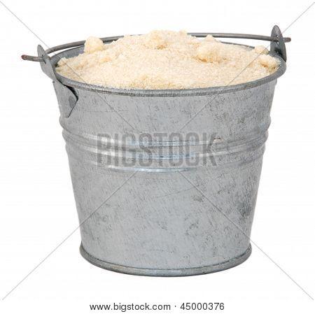 Golden Caster Sugar In A Miniature Metal Bucket