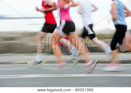 Runners, Blurred Motion