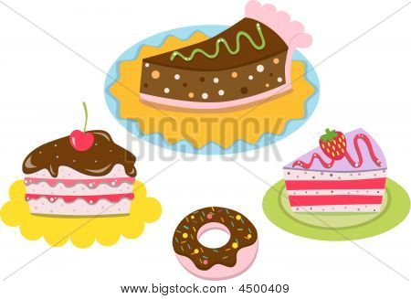 Vector Drawing Of Birthday Cake