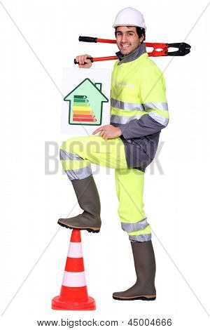 A road worker