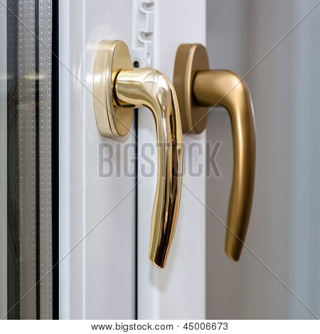 Window Handles On Plastic Window
