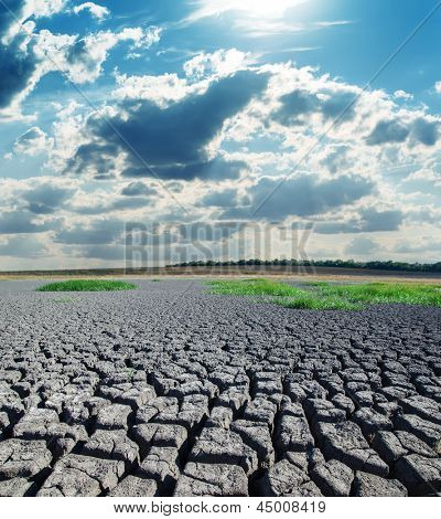 drought land under hot sun