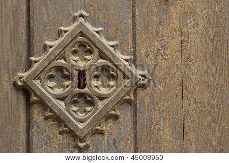Old Metal Medieval Door Background