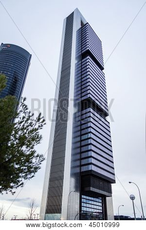 Cuatro Torres Business Area (ctba) Building Skyscraper, In Madrid, Spain