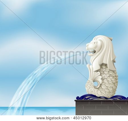 Illustration of the statue of merlion