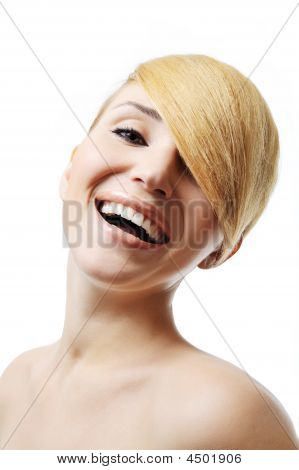 Pretty Laughing Woman
