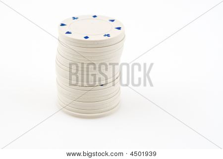 White chips in one column