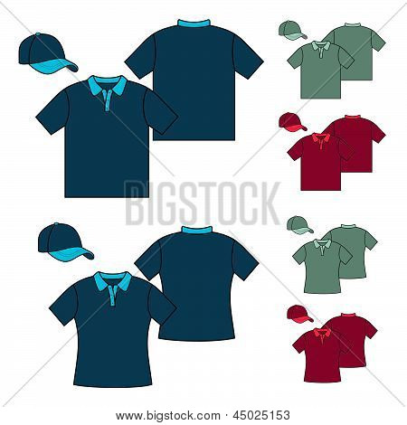 T-shirts model polo design.