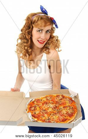 Housewife With A Pizza