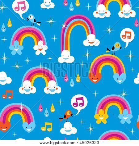 cute rainbows pattern