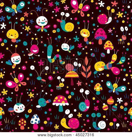 happy meadow pattern