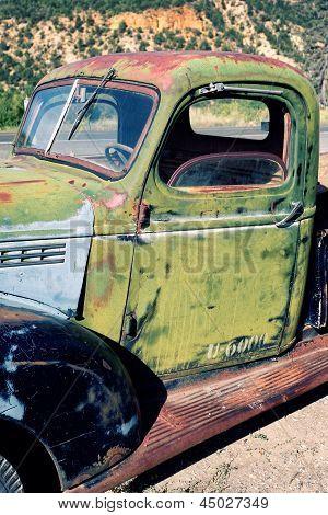 Destroyed Old Truck