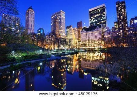 Central Park and aparrtment buildings in New York City