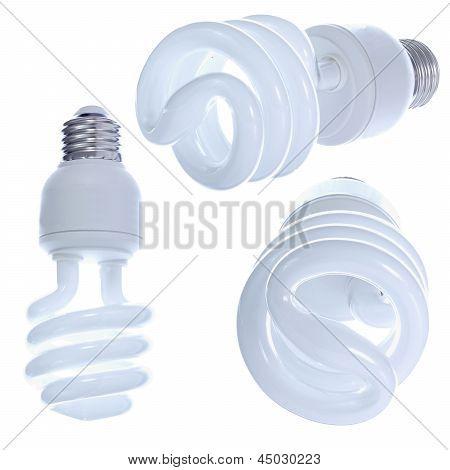 Designer's Set Of Light Bulbs.