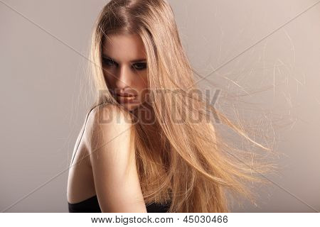 Young Model With Long Straight Hair