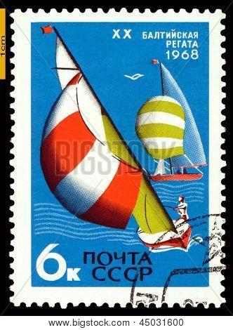 Vintage  Postage Stamp.  Baltic Regatta.