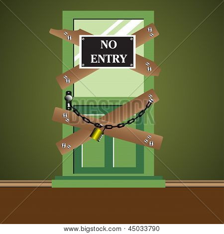 No entry door