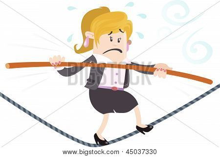 Businesswoman Buddy On A Wire