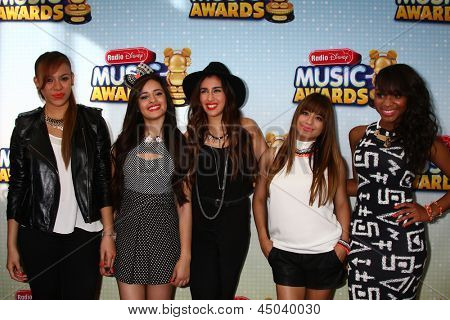 LOS ANGELES - APR 27:  Fifth Harmony arrives at the Radio Disney Music Awards 2013 at the Nokia Theater on April 27, 2013 in Los Angeles, CA
