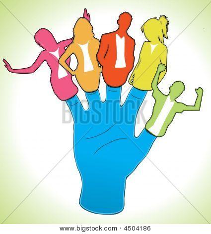 Team Like Finger Puppets