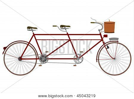 Vintage Tandem Bicycle.